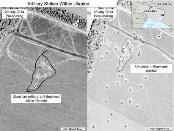 Информация для сумчан: спутниковые фотоснимки артиллерийского обстрела Украины с территории РФ (ФОТО), фото-4