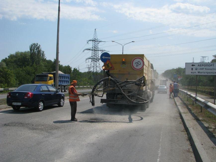 В Запорожской области проводится ямочный ремонт дорог, фото-1