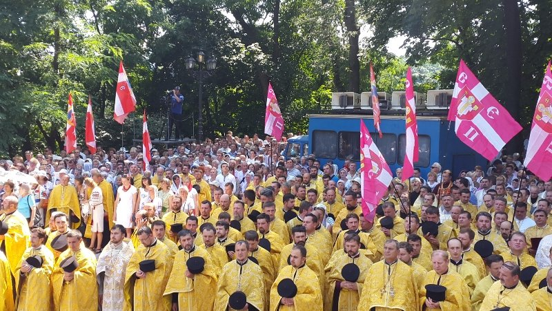 В Киеве 8 тысяч прихожан прошли крестным ходом по случаю празднования Крещения Руси-Украины (ФОТО, ВИДЕО), фото-8