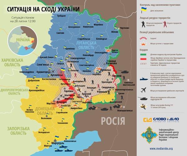 Битва за Донбасс: ситуация на 12:00 (карта боев), фото-1