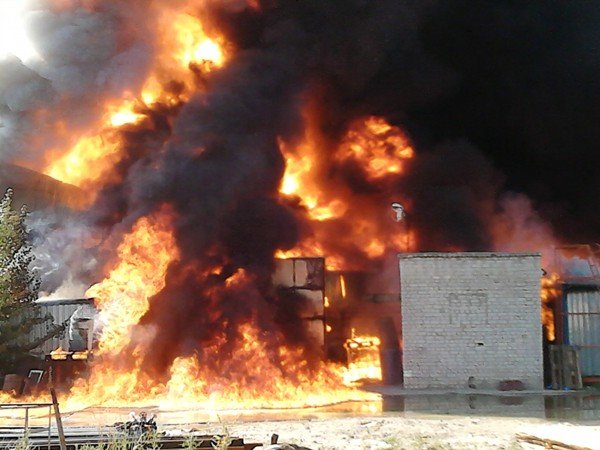 В Киеве произошел крупный пожар на Выдубичах (Дополнено, ФОТО), фото-1