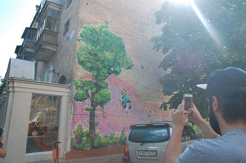 Еще один дом в Белгороде украсили граффити, фото-1