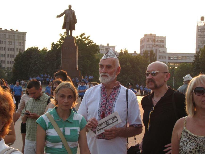 В Харькове прошел объединенный митинг за Украину и небольшое собрание проросийских активистов, фото-7