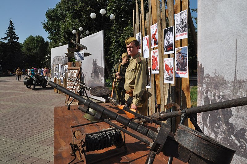 В парке Победы открыли выставку под открытым небом «Белгород фронтовой», фото-3
