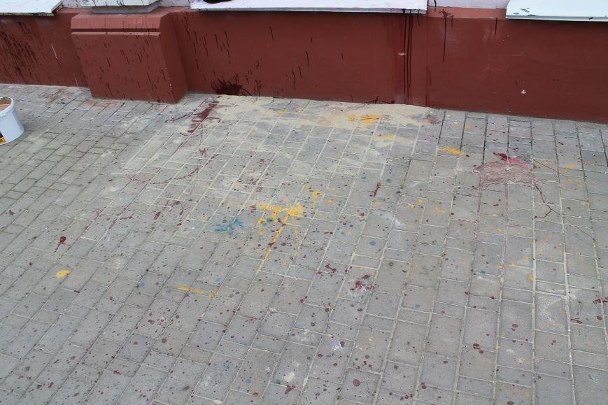 В Сумах отделения российского «Сбербанка» забросали краской (ФОТО), фото-4