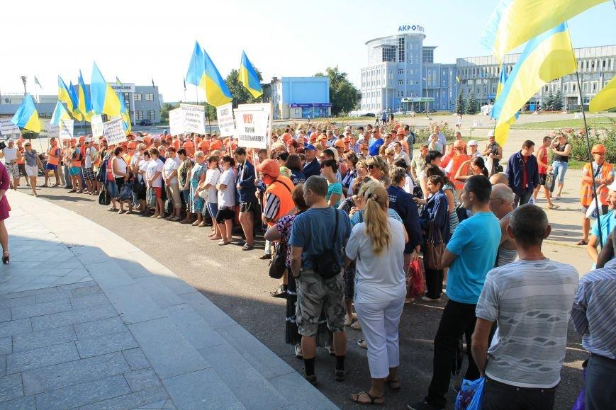 В Сумах несколько сотен строителей «Федорченко» вышли на пл. Независимости (ФОТО), фото-5
