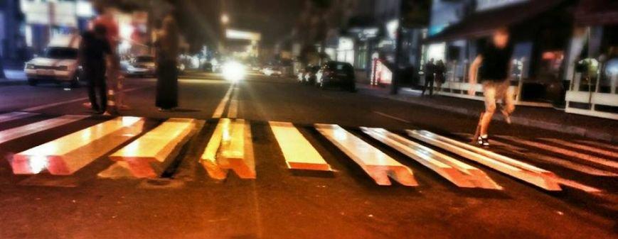 В Киеве появился пешеходный переход с 3D-надписью «ПТН-ПНХ» (ФОТО), фото-2