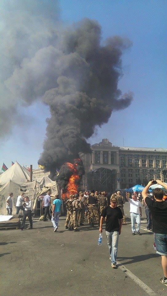 На Майдане начались столкновения милиции и протестующих, горят шины (ФОТО, ОБНОВЛЕНО), фото-3