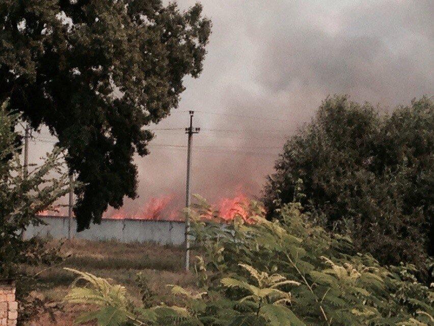 Пожар под Симферополем: полыхает сухая трава (ФОТО, обновлено), фото-2