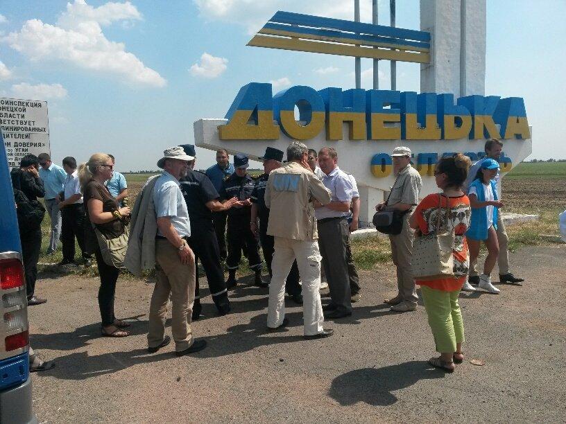 На границе Донецкой и Запорожской областей мариупольцы встретили гуманитарную помощь (Дополнено+ФОТО), фото-4