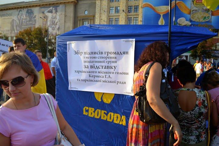 Харьковские «свободовцы» собрали 1,5 тысячи подписей за отставку Кернеса, фото-1