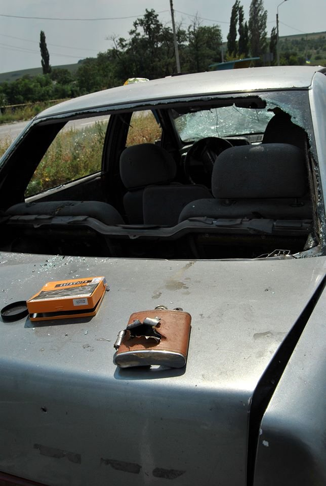 На блокпосту между Горловкой и Ясиноватой силы АТО уничтожили автомобиль с боевиками (ФОТО), фото-4