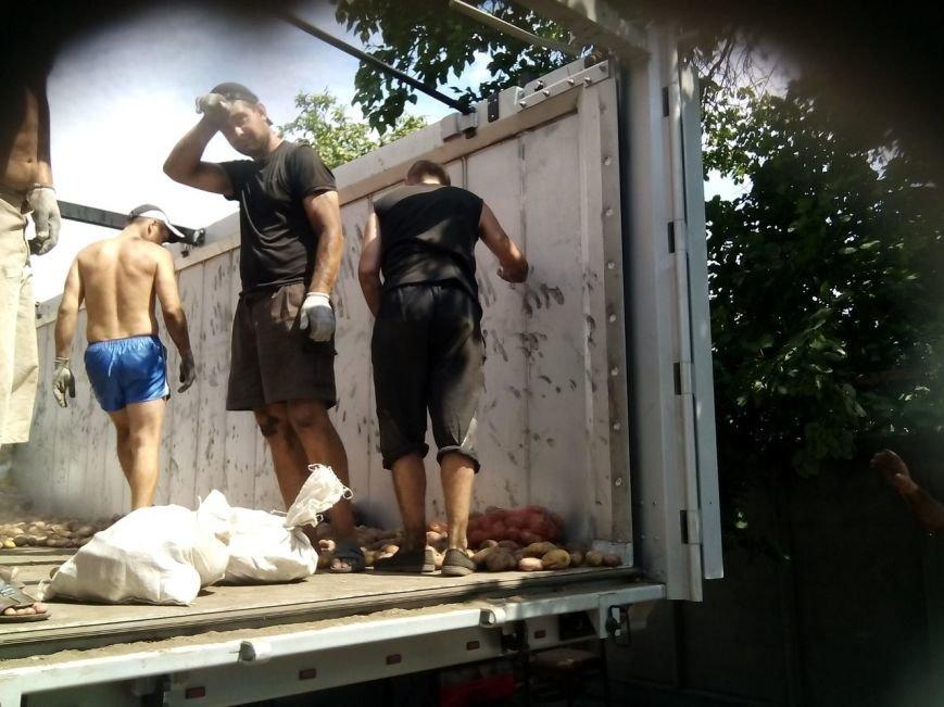 В Мариуполе беженцы получили 50 тонн картофеля от жителей Черкасской и Сумской областей (ФОТО), фото-7