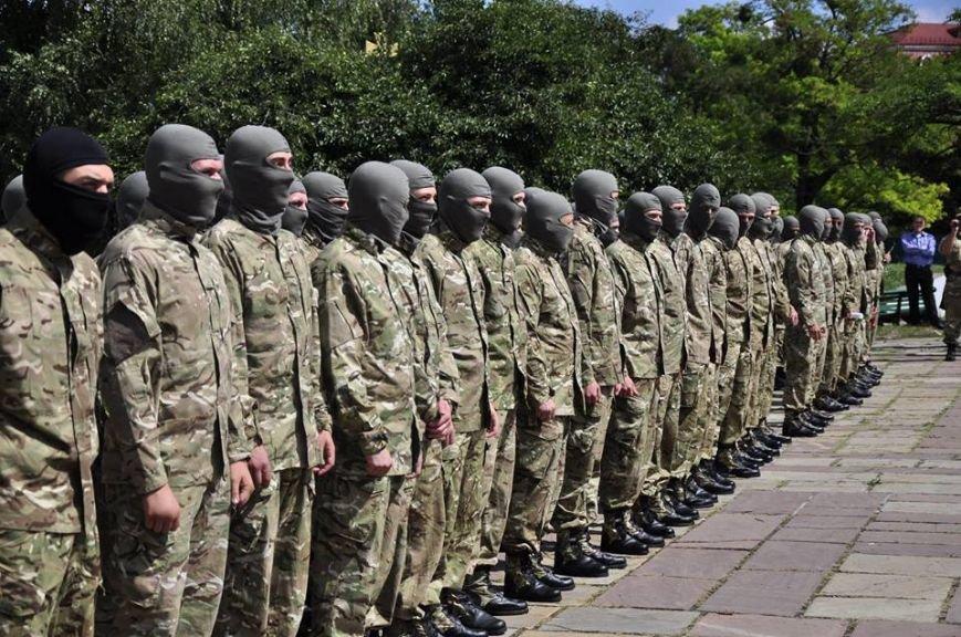 В Киеве 75 добровольцев батальона «Азов» проводили на войну (Добавлено ФОТО), фото-2