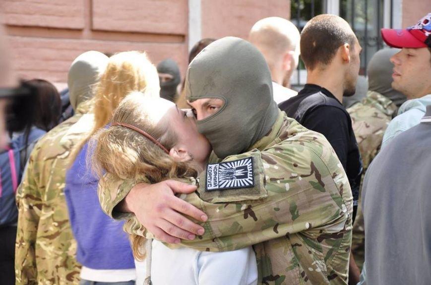 В Киеве 75 добровольцев батальона «Азов» проводили на войну (Добавлено ФОТО), фото-8
