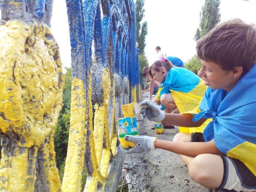 В Сумах покрасили в патриотические цвета мост на Харьковской (ФОТО), фото-1