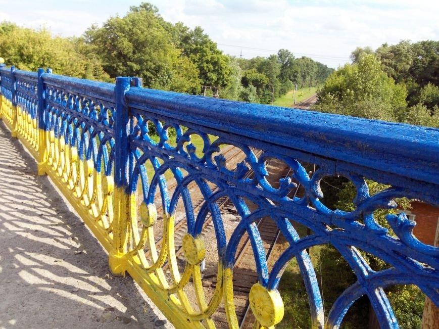 В Сумах покрасили в патриотические цвета мост на Харьковской (ФОТО), фото-3