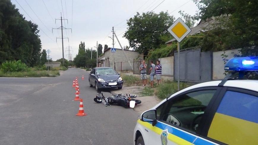 В Кировограде мотоцикл столкнулся с автомобилем (фото), фото-2