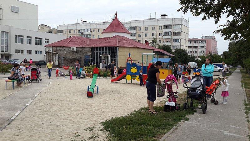 Жители Разумного установили новые аттракционы на детской площадке, которую «отбили» у властей, фото-2