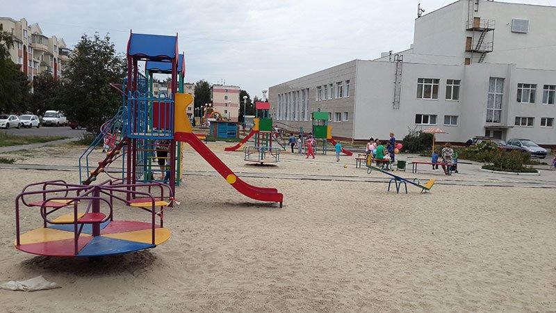 Жители Разумного установили новые аттракционы на детской площадке, которую «отбили» у властей, фото-1