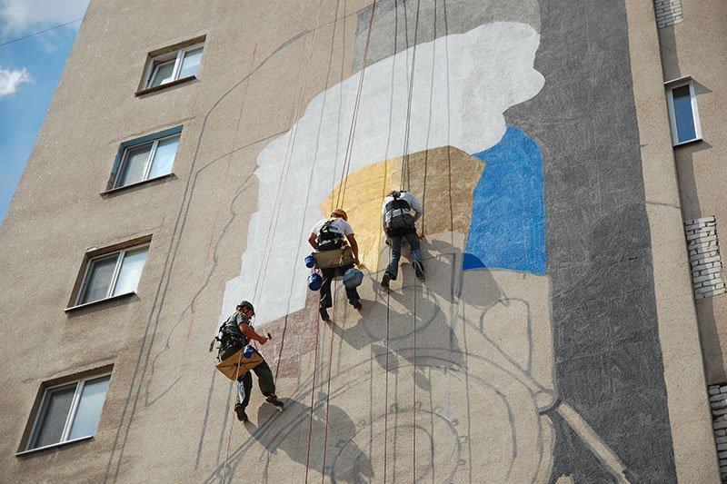 В Белгороде на стене дома по Вокзальной улице появится изображение паровоза, фото-2