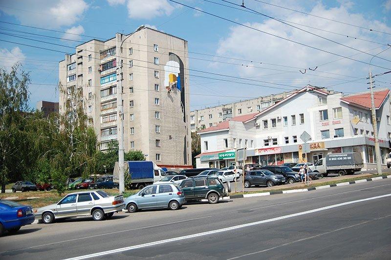 В Белгороде на стене дома по Вокзальной улице появится изображение паровоза, фото-1
