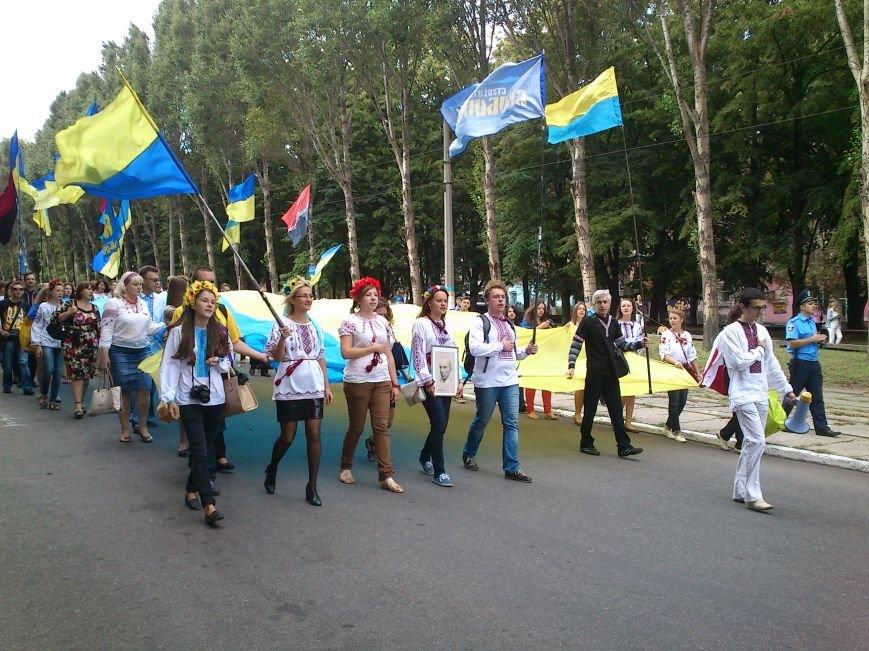 В Днепродзержинске в День Государственного флага состоялся марш вышиванок, фото-1