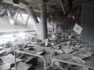 В результате обстрела  «Донбасс Арене»  нанесены серьезные повреждения (ФОТО), фото-1