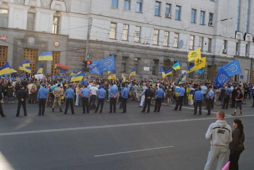 В Харькове евромайдановцы организовали батальон «Антигепин», подрались с милицией и развесили флаги над Сумской, фото-25