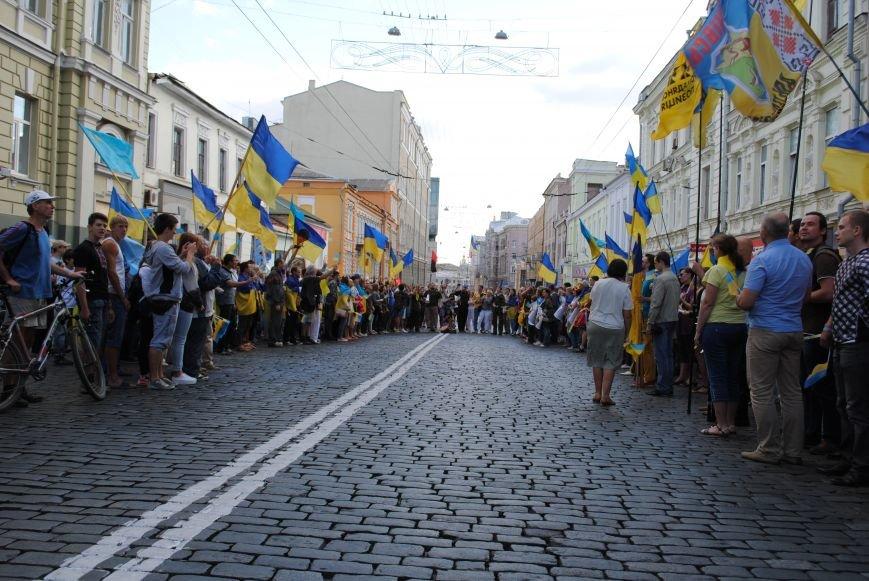 В Харькове евромайдановцы организовали батальон «Антигепин», подрались с милицией и развесили флаги над Сумской, фото-22