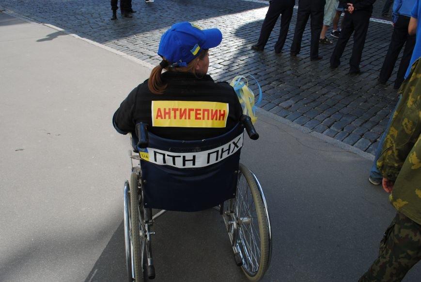 В Харькове евромайдановцы организовали батальон «Антигепин», подрались с милицией и развесили флаги над Сумской, фото-21