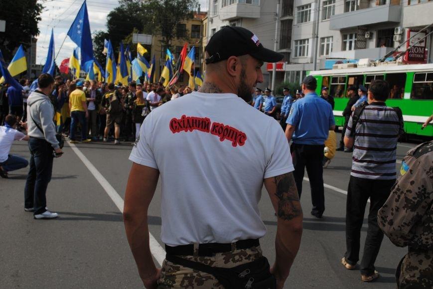 В Харькове евромайдановцы организовали батальон «Антигепин», подрались с милицией и развесили флаги над Сумской, фото-10