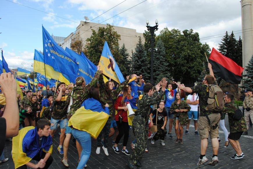 В Харькове евромайдановцы организовали батальон «Антигепин», подрались с милицией и развесили флаги над Сумской, фото-12