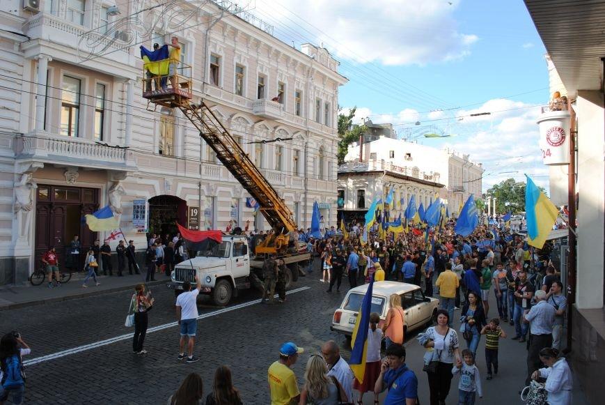 В Харькове евромайдановцы организовали батальон «Антигепин», подрались с милицией и развесили флаги над Сумской, фото-17