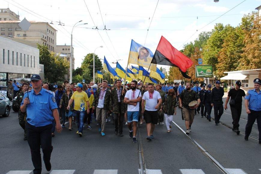 В Харькове евромайдановцы организовали батальон «Антигепин», подрались с милицией и развесили флаги над Сумской, фото-6