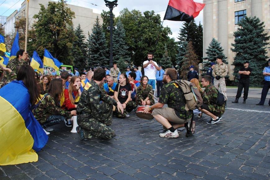 В Харькове евромайдановцы организовали батальон «Антигепин», подрались с милицией и развесили флаги над Сумской, фото-11