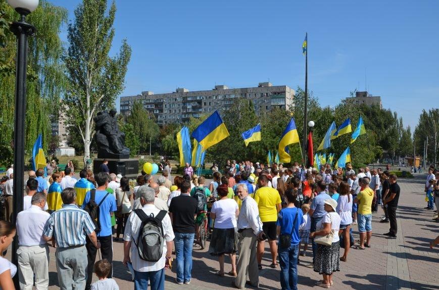 Мариупольцы на митинге в честь Дня Независимости написали письмо Петру Порошенко (ФОТОРЕПОРТАЖ), фото-14