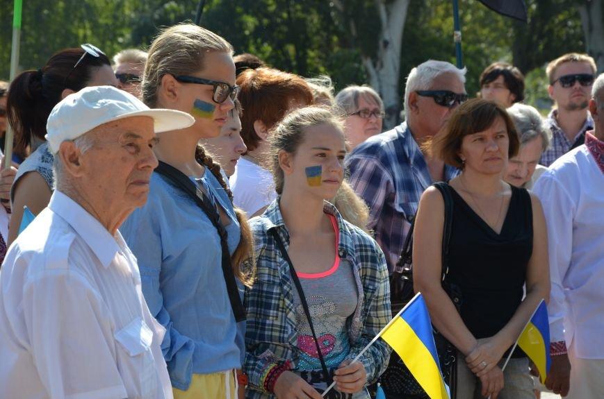 Мариупольцы на митинге в честь Дня Независимости написали письмо Петру Порошенко (ФОТОРЕПОРТАЖ), фото-4