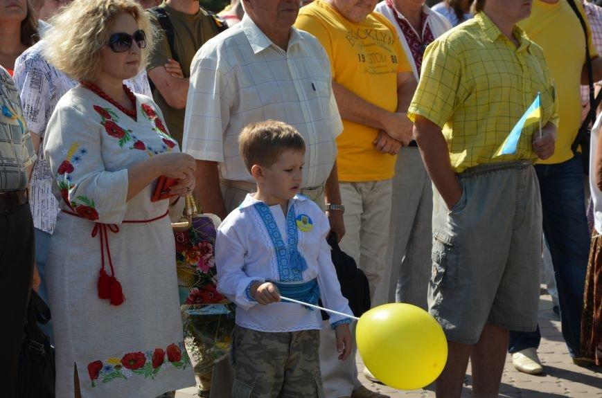 Мариупольцы на митинге в честь Дня Независимости написали письмо Петру Порошенко (ФОТОРЕПОРТАЖ), фото-2
