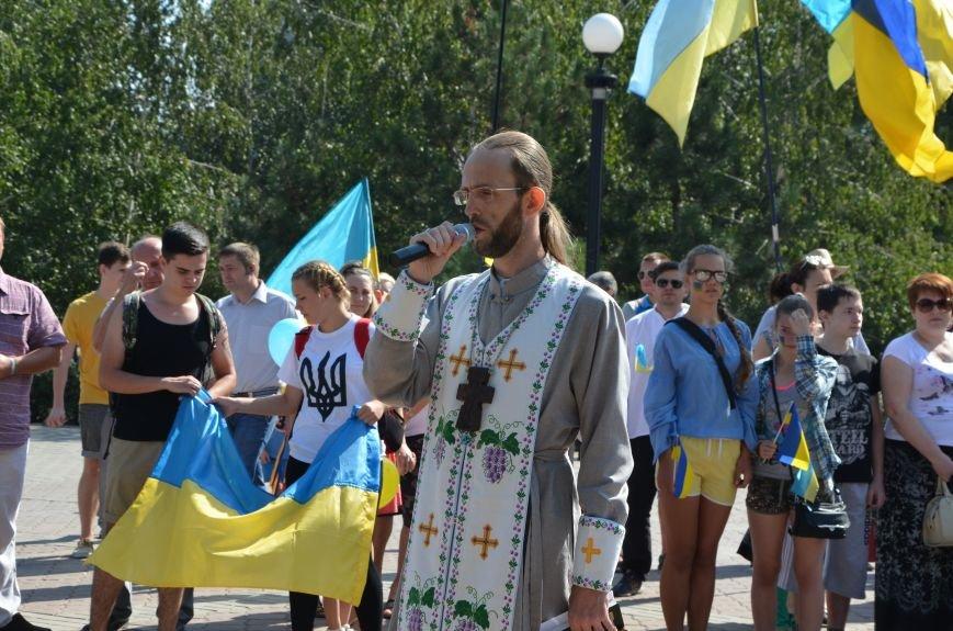 Мариупольцы на митинге в честь Дня Независимости написали письмо Петру Порошенко (ФОТОРЕПОРТАЖ), фото-10