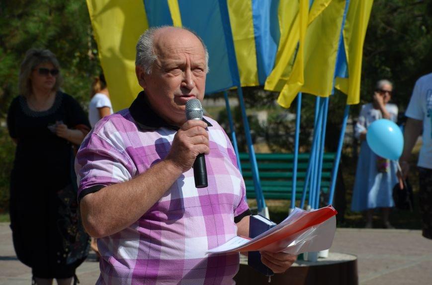 Мариупольцы на митинге в честь Дня Независимости написали письмо Петру Порошенко (ФОТОРЕПОРТАЖ), фото-31
