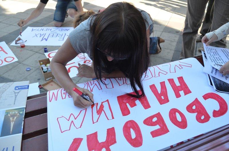 В Симферополе требовали освободить журналистов, задержанных на востоке Украины (ФОТО, ВИДЕО), фото-3