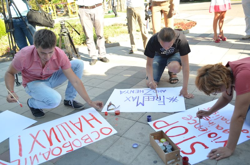 В Симферополе требовали освободить журналистов, задержанных на востоке Украины (ФОТО, ВИДЕО), фото-2