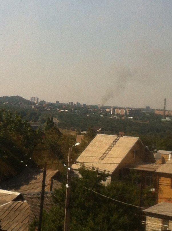В Донецке горит район Калининского рынка и хлебозавод на Полиграфической (ФОТО), фото-2
