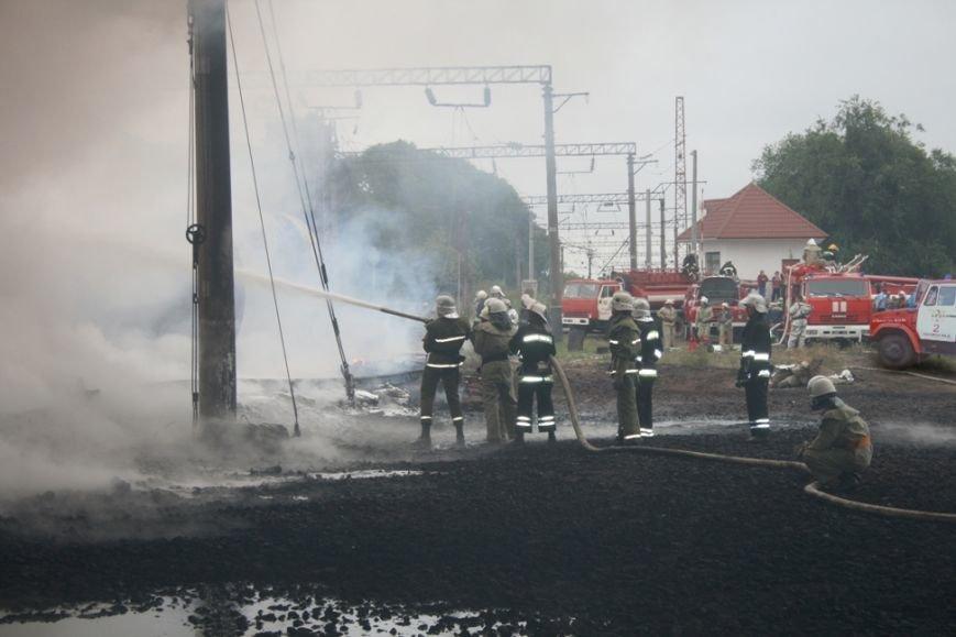 """Рятувальники Кіровоградського гарнізону залучалися до гасіння пожежі на станції """"Городище"""", фото-4"""