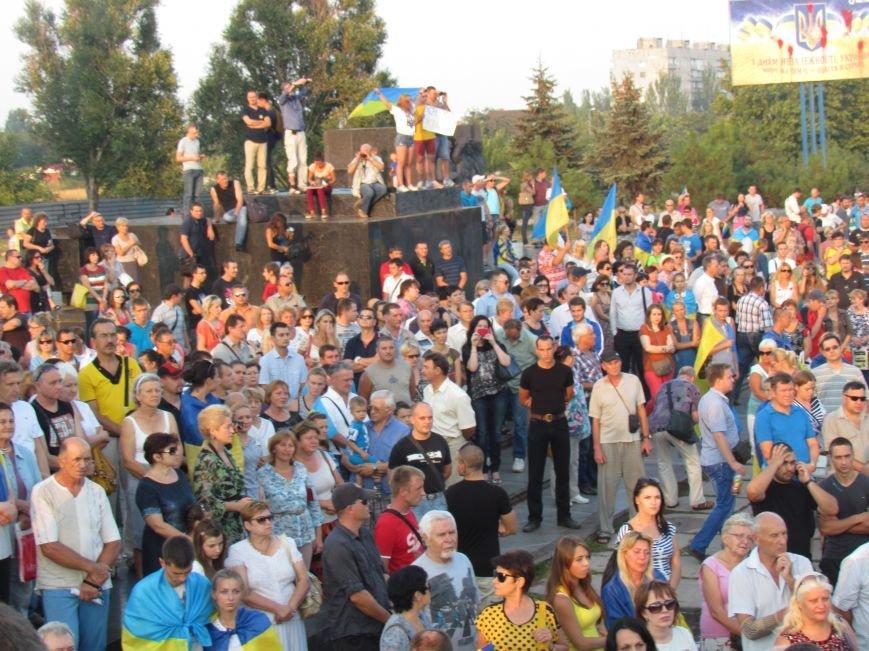 В Мариуполе на митинге за мир пели гимн Украины, молились и записывались в «живой щит» (ДОПОЛНЕНО+ФОТО+ВИДЕО), фото-12