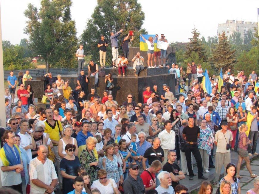 В Мариуполе на митинге за мир пели гимн Украины, молились и записывались в «живой щит» (ДОПОЛНЕНО+ФОТО+ВИДЕО), фото-10