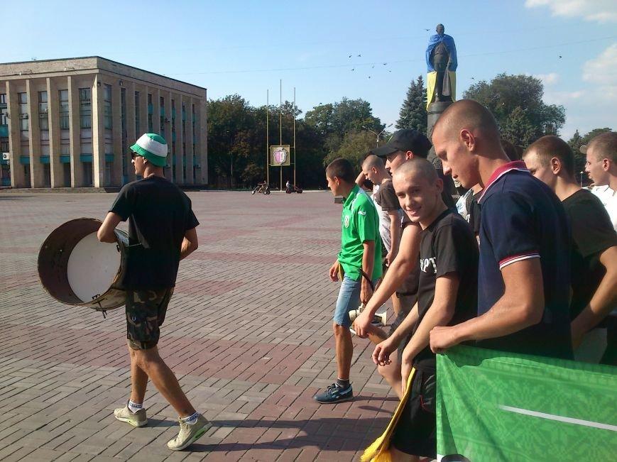 Марш футбольных фанатов в Днепродзержинске, фото-5