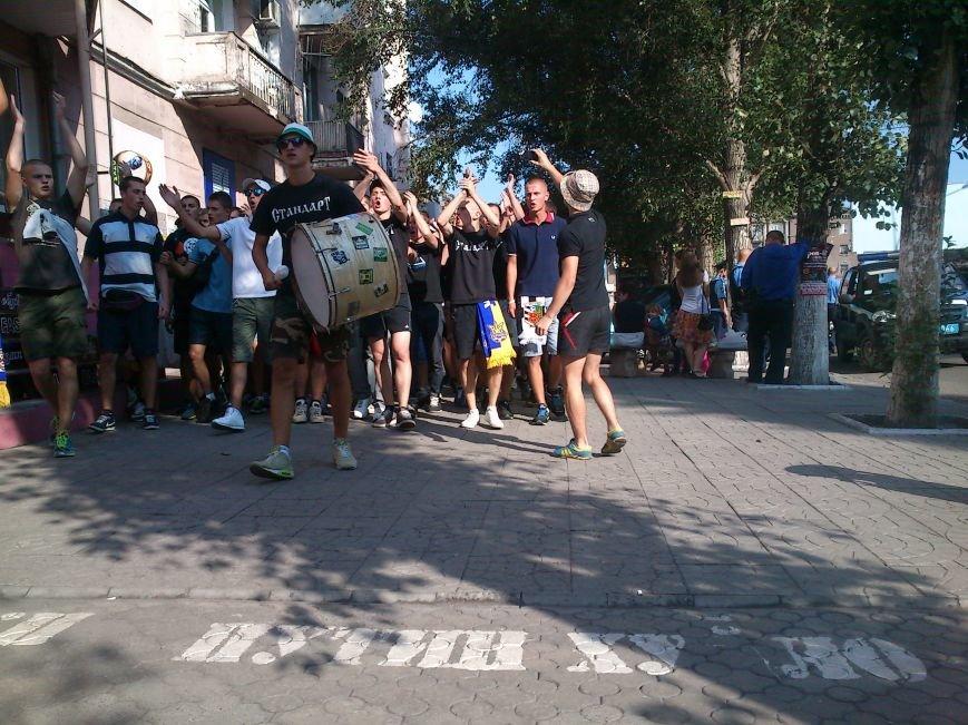 Марш футбольных фанатов в Днепродзержинске, фото-3