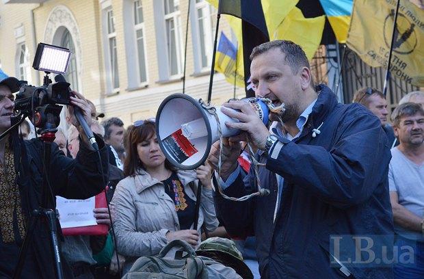 Добровольцы из «Днепра-1» пикетируют Администрацию Президента (ФОТО), фото-18